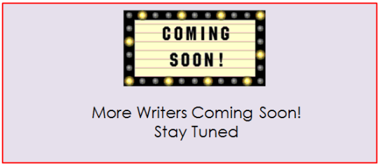 Writers Coming Soon