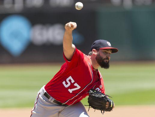 MLB: Washington Nationals at Oakland Athletics